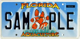 Aquaculture Guy Harvey Inspired Florida License Plate