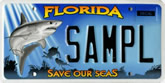 Save Our Seas Guy Harvey Inspired Florida License Plate